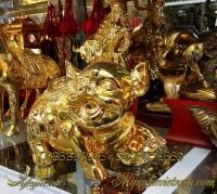 tượng heo đồng mạ vàng phong thủy cao cấp 4
