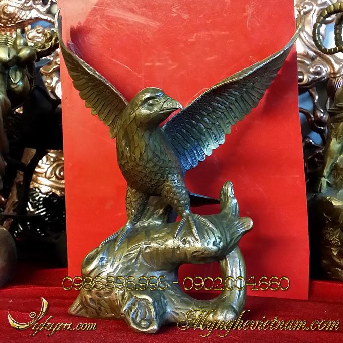 Tượng đại bàng bằng đồng giả cổ cao 20cm0