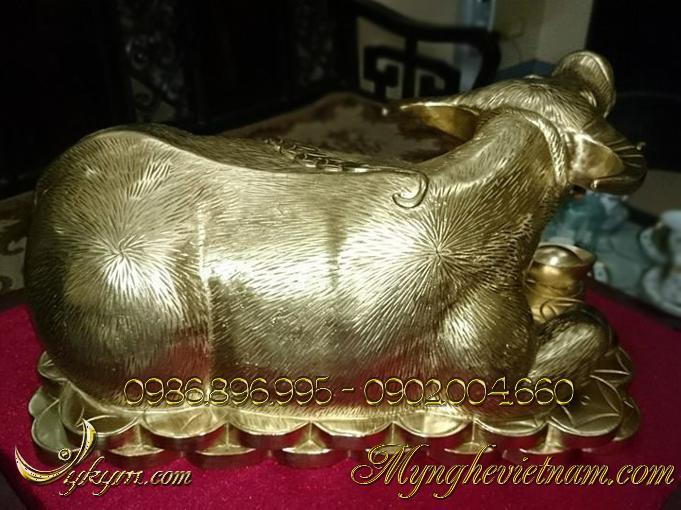 tượng trâu đồng vàng đẹp 2