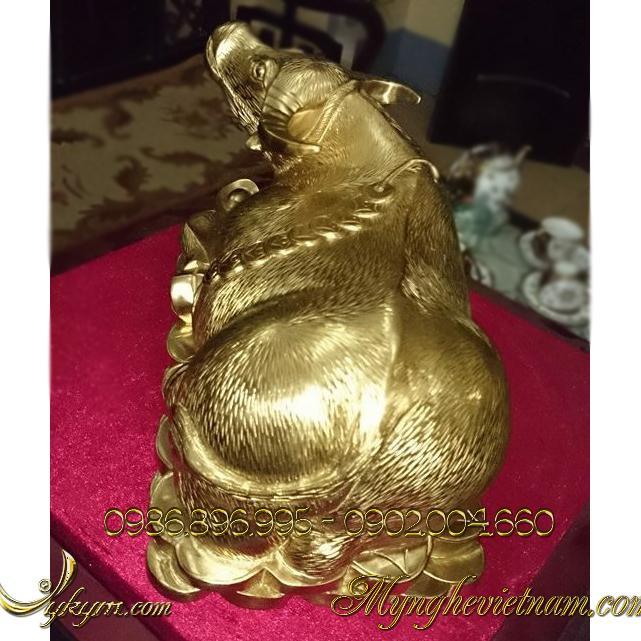 tượng trâu đồng vàng đẹp 5