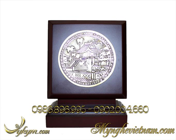 biểu trưng chùa 1 cột bằng đồng 3