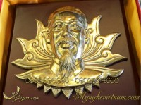 biểu trưng quà tặng chân dung bác hồ bằng đồng 2