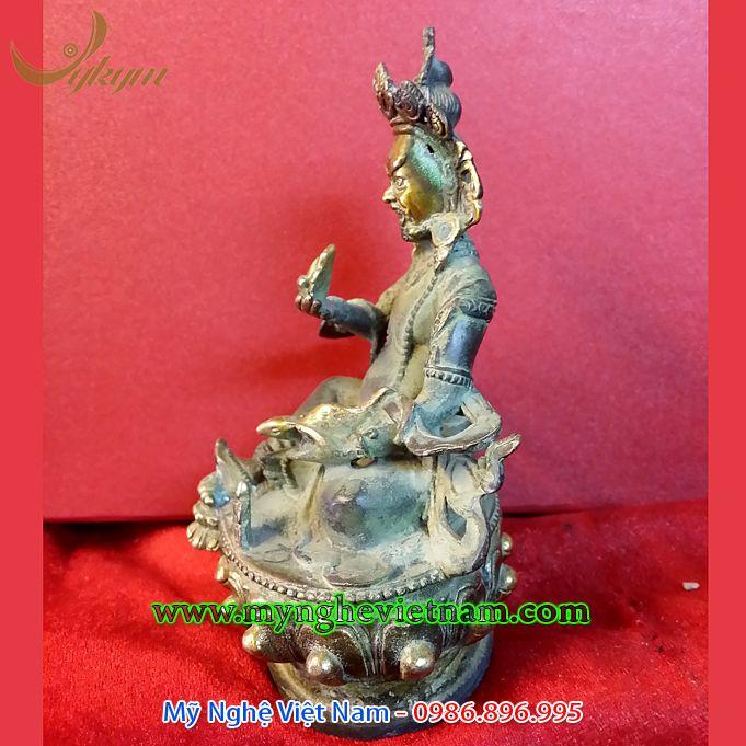 tượng hoàng thần tài bằng đồng giả cổ mật tông