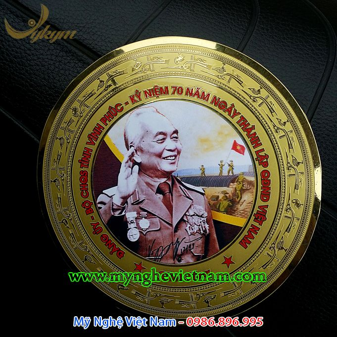 đĩa quà tặng in hình đại tướng võ nguyên giáp