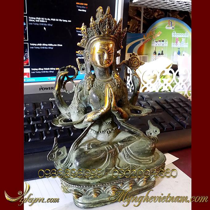 tượng quan âm bồ tát mật tông tây tạng 2