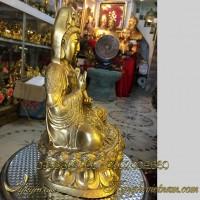 tượng quan thế âm bồ tát cầm bình thủy 28cm