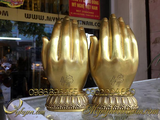 bàn tay phật quan thế âm bồ tát đồng vàng