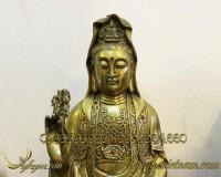 tượng quan âm bồ tát bằng đồng 45cm 2