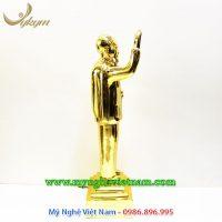 tượng bác hồ 52cm mạ vàng 18k