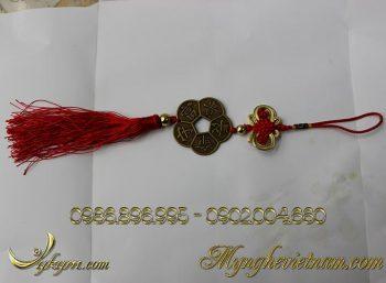 dây tiền xu hoa mai bằng đồng