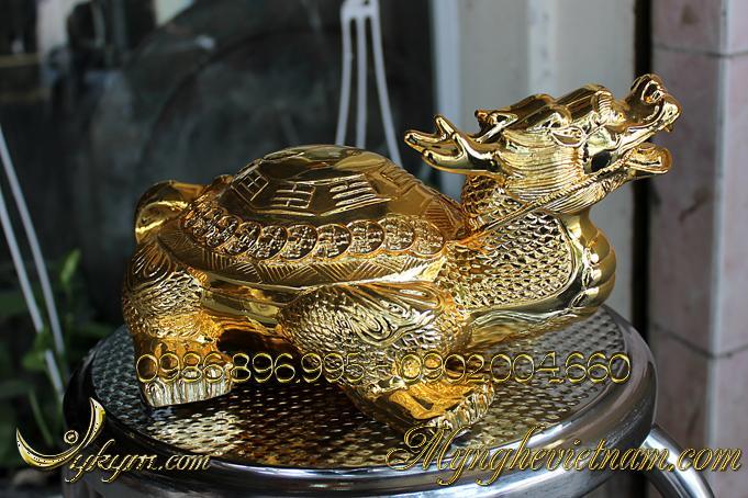 rùa đầu rồng long quy lưng bát quái lưng tiền 2