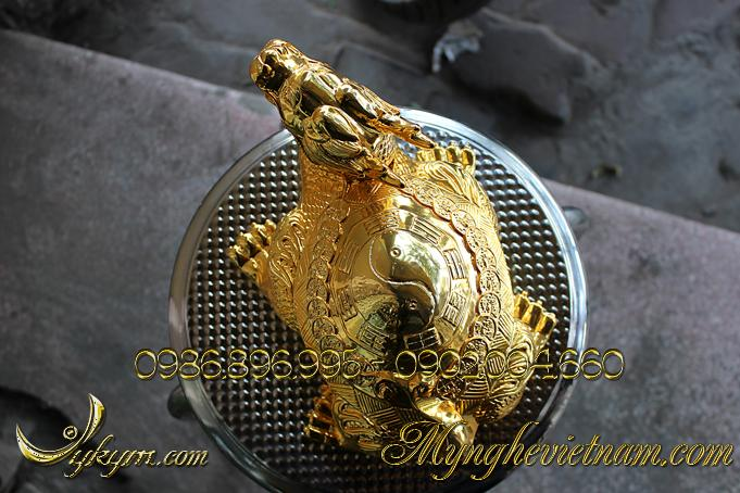 rùa đầu rồng long quy lưng bát quái lưng tiền 3