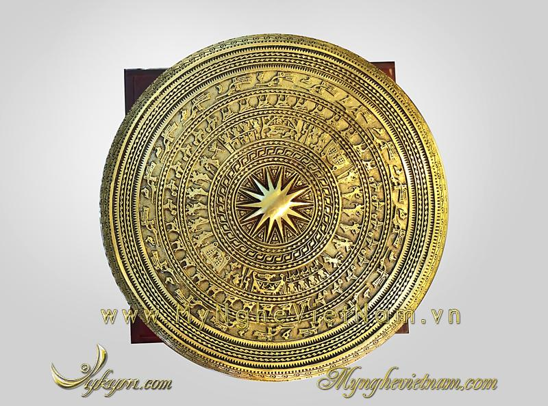 mặt Trống đồng lưu niệm, trống đồng quà tặng đường kính 15cm
