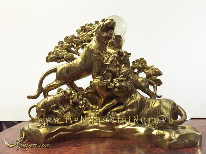 tượng ngũ hổ bằng đồng cao cấp