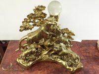 tượng ngũ hổ bằng đồng cao cấp 2