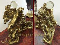 tượng ngũ hổ bằng đồng cao cấp 3
