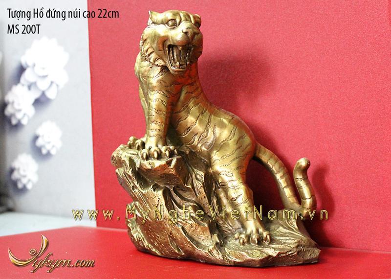 Tượng hổ đồng phong thủy cao 22cm0