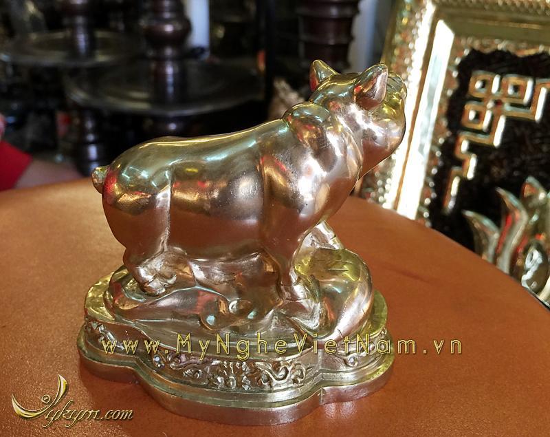 tượng 12 con giáp bằng đồng, tượng lợn đồng