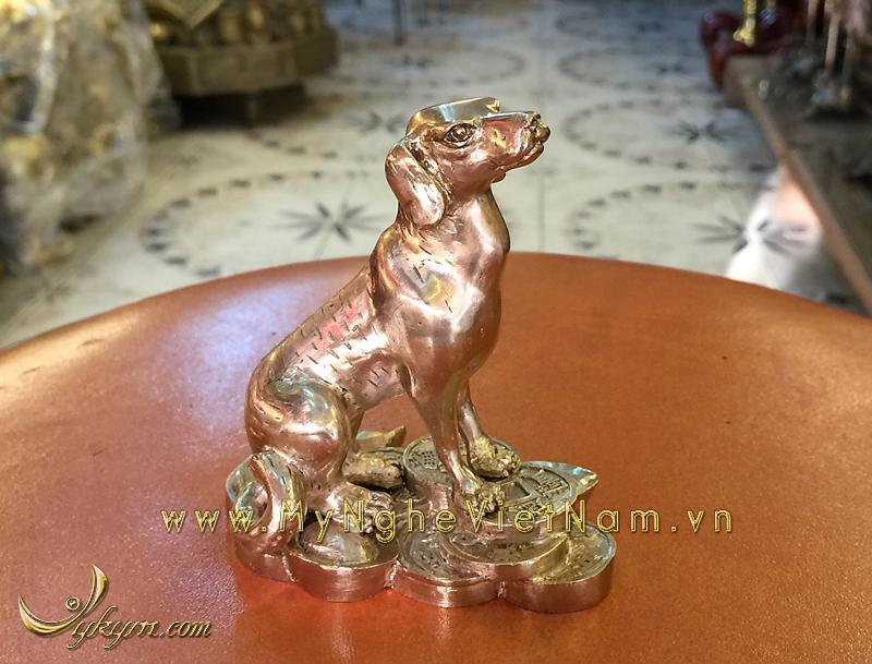 tượng 12 con giáp bằng đồng, tượng chó đồng 2