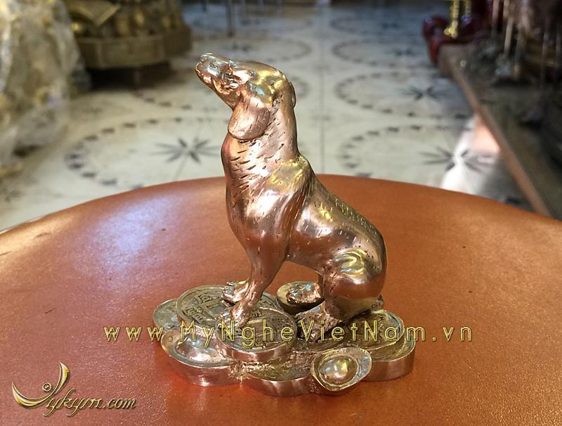 tượng 12 con giáp bằng đồng, tượng chó đồng