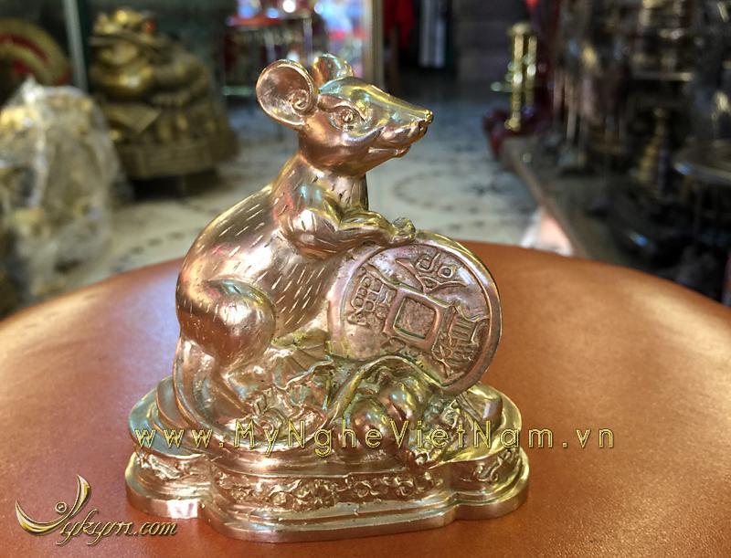 tượng 12 con giáp bằng đồng, tượng chuột đồng 2