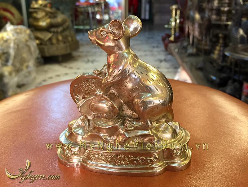 tượng 12 con giáp bằng đồng, tượng chuột đồng 1