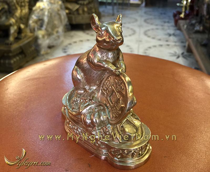 tượng 12 con giáp bằng đồng, tượng chuột đồng