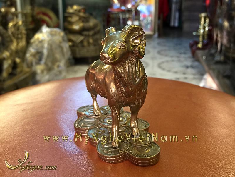tượng 12 con giáp bằng đồng, tượng dê đồng