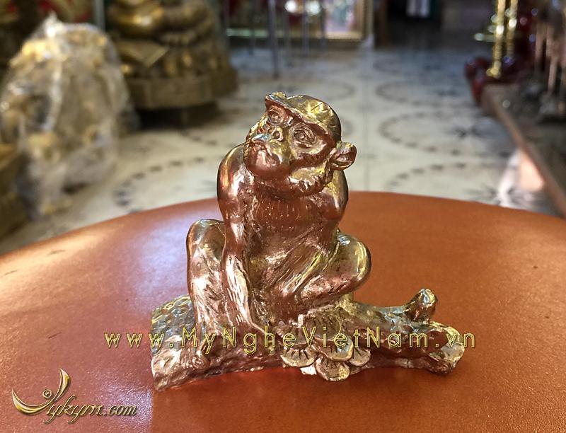 tượng 12 con giáp bằng đồng, tượng khỉ đồng 2
