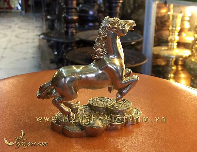 tượng 12 con giáp bằng đồng, tượng ngựa đồng 2