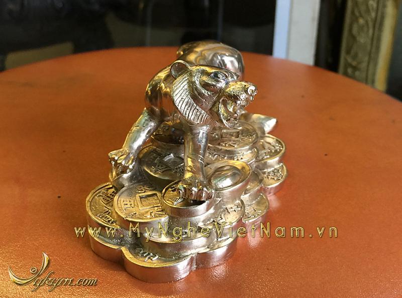 tượng 12 con giáp bằng đồng, tượng hổ đồng 2