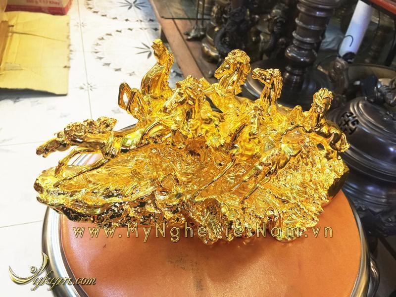 tượng bát mã bằng đồng mạ vàng, tượng mã đáo thành công 2
