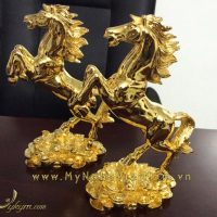 tượng ngựa đồng mạ vàng 24k cao cấp 2