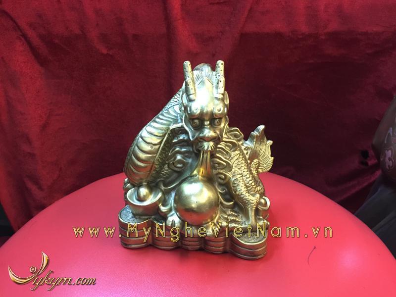 bộ 12 con giáp, con vật phong thủy bằng đồng, con rồng ngồi tiền