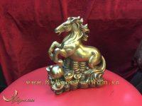 bộ 12 con giáp, con vật phong thủy bằng đồng, con ngựa ngồi tiền
