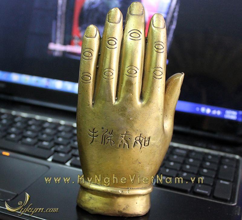 tượng khỉ trong bàn tay chiêu tài chiêu lộc 15cm