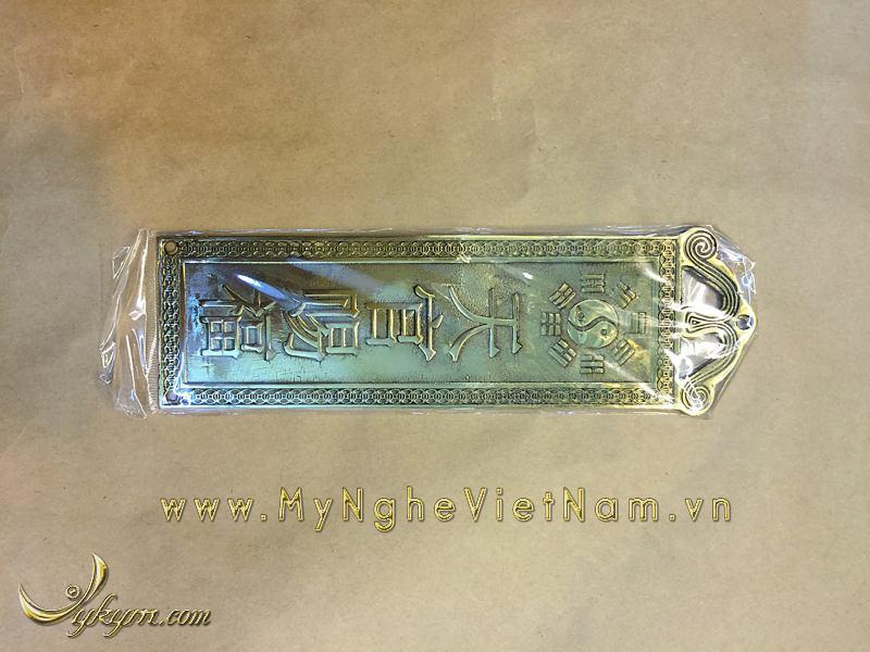 kim bài thiên quan tứ phước bằng đồng treo cửa