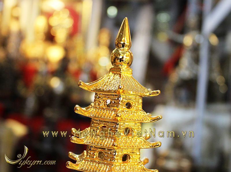 tháp văn xương mạ vàng cao 28cm