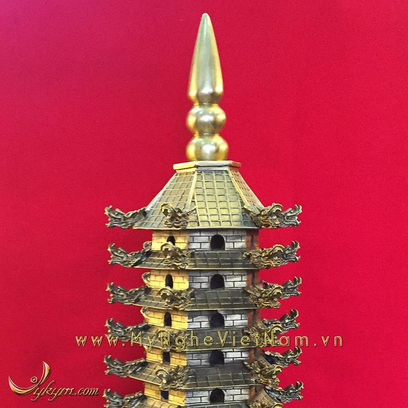tháp văn xương 9 tầng bằng đồng cao 60cm 2