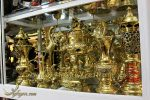 bộ đỉnh đồng vàng 45cm sáng bóng cùng đồ thờ cúng đi kèm