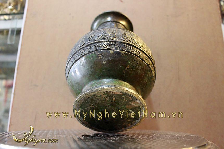 lọ hoa đồng giả cổ, lục bình đồng dùng làm phong thủy