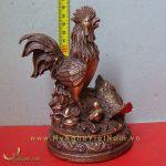 tượng gà trống gà mái và gà con cao 15cm