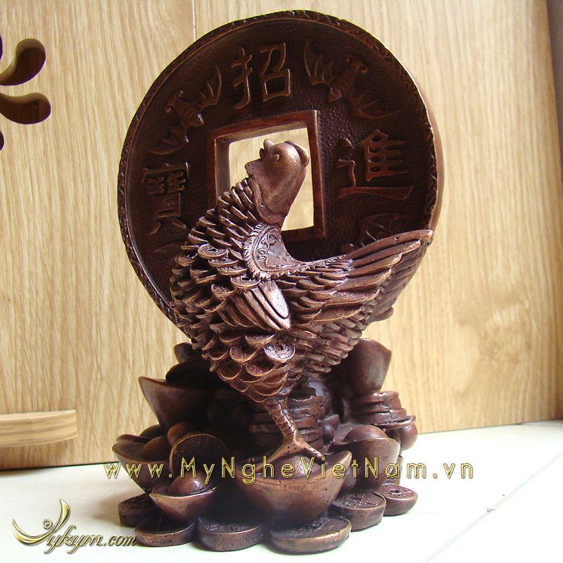 tượng gà chiêu tài lộc phúc phong thủy cao cấp 3