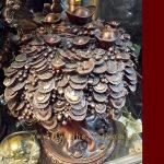 cây tiền đồng, vật phẩm phong thủy chiêu tài, cây tiền phong thủy 2