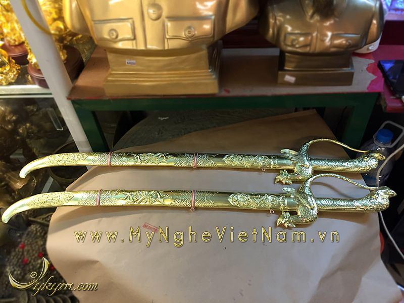 Kiếm thờ bằng đồng, kiếm chầu dài 70cm thờ cúng0
