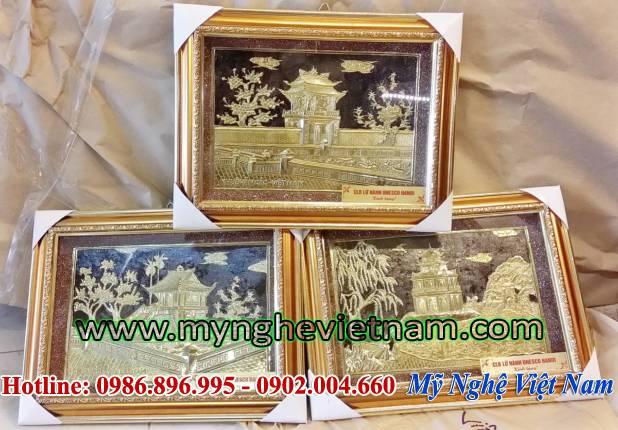 tranh tháp rùa, tranh chùa 1 cột, tranh khuê văn các, tranh văn miếu quốc tử giám, tranh quà tặng văn hóa