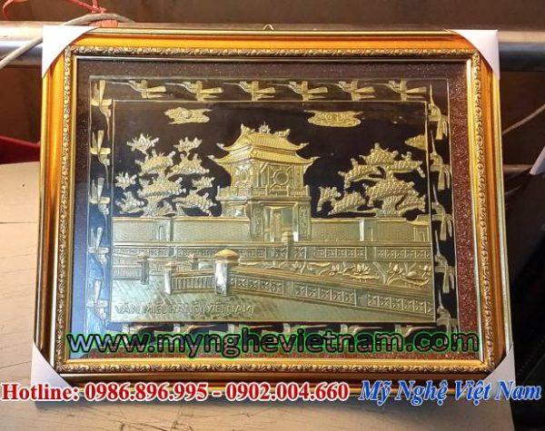 tranh quà tặng văn hóa, tranh khuê văn các văn miếu quốc tử giám