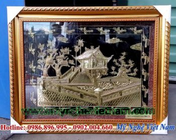 tranh quà tặng văn hóa, tranh chùa 1 cột hà nội