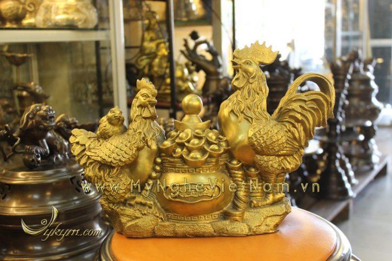 tượng gà đồng chầu hũ tiền