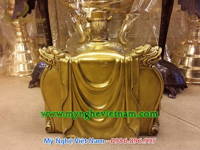 tượng long vương bằng đồng cao 25cm
